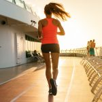 woman jogging in the afternoon
