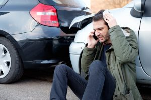 man on the phone car accident