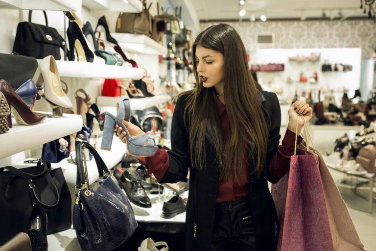 customer buying fashion items